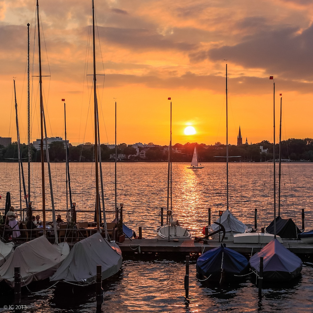 Sonnenuntergang - Binnenalster Hamburg