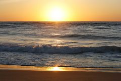 Sonnenuntergang der Nordsee bei St. Peter-Ording