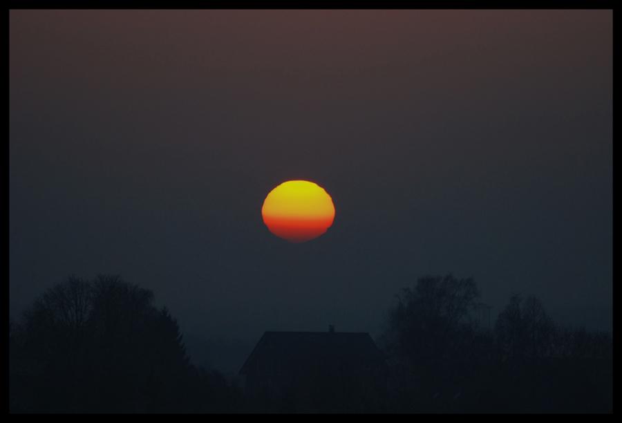 Sonnenuntergang Dortmund Holthausen