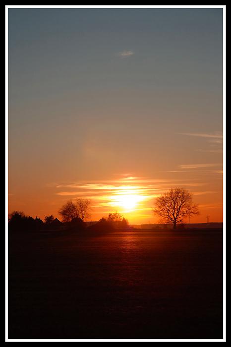 Sonnenuntergang Dortmund Holthausen II