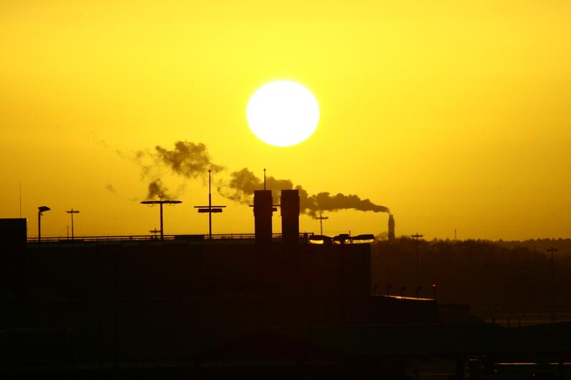 Sonnenuntergang einmal anders... / Ocaso del sol una vez muy diferente...