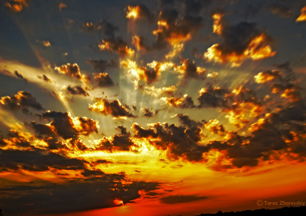 Sonnenuntergang Explosion