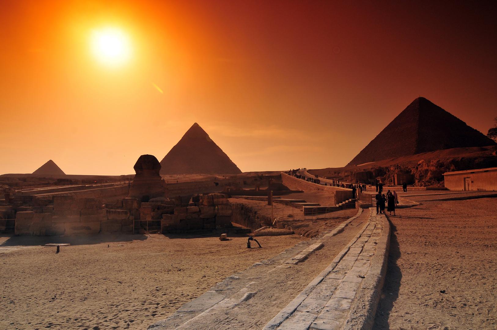 Sonnenuntergang Giza