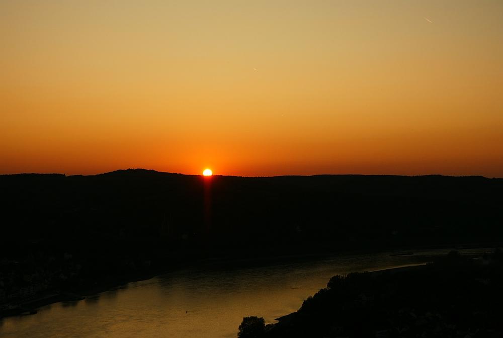 Sonnenuntergang - gleich ist sie weg;-)