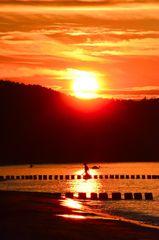 Sonnenuntergang-Graal-Müritz