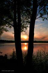 Sonnenuntergang grad eben am U-See