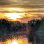 Sonnenuntergang Havel - Dienstag ist Spiegeltag