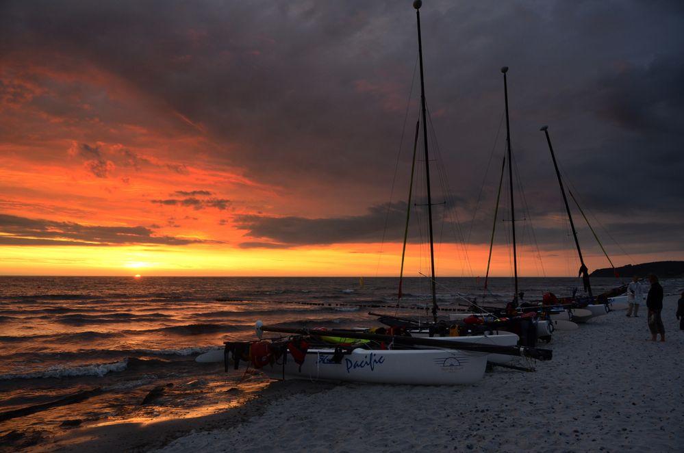 Sonnenuntergang Hiddensee am 20 Juli