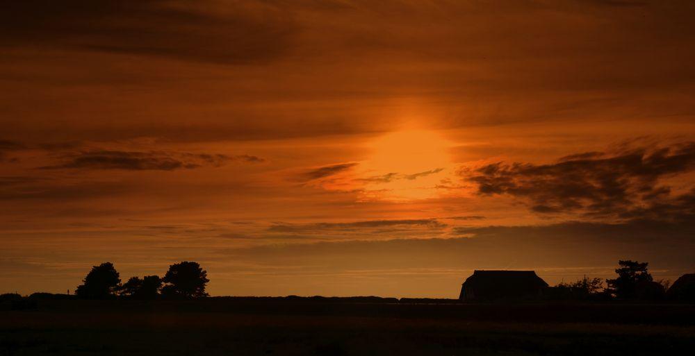 Sonnenuntergang Hiddensee,geschnitten