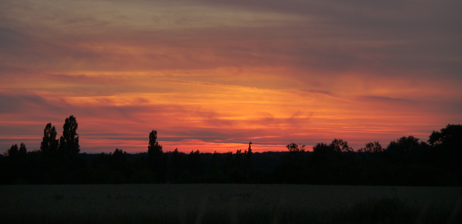 Sonnenuntergang hinter den Gatower Feldern, 30.06.08 – 02