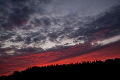 Sonnenuntergang hinter Lydia