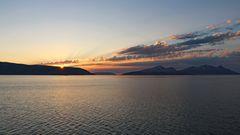 Sonnenuntergang hinter Reinøya