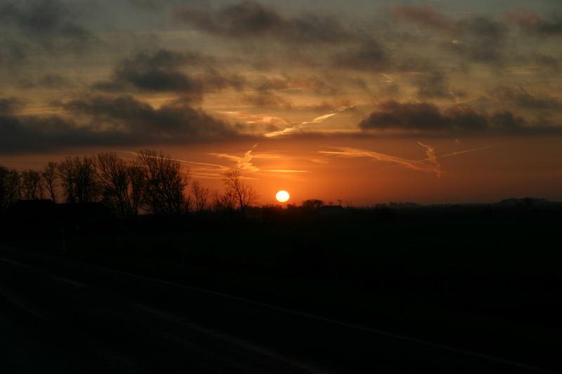 Sonnenuntergang hinterm Vordeich