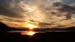 Sonnenuntergang im Abisko Nationalpark bei Kiruna