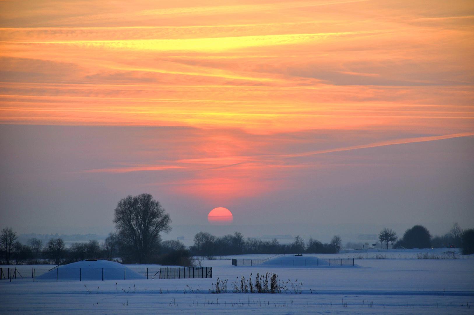 Sonnenuntergang im Aischgrund