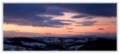 Sonnenuntergang im Alpenvorland