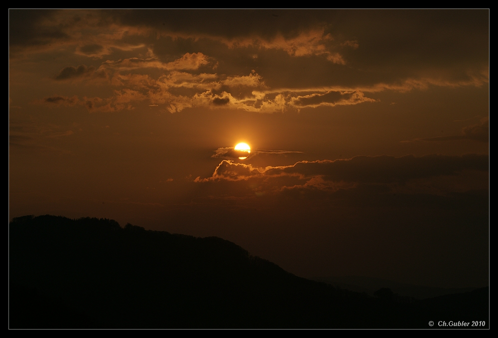 Sonnenuntergang im April 2010 (Nr.2)