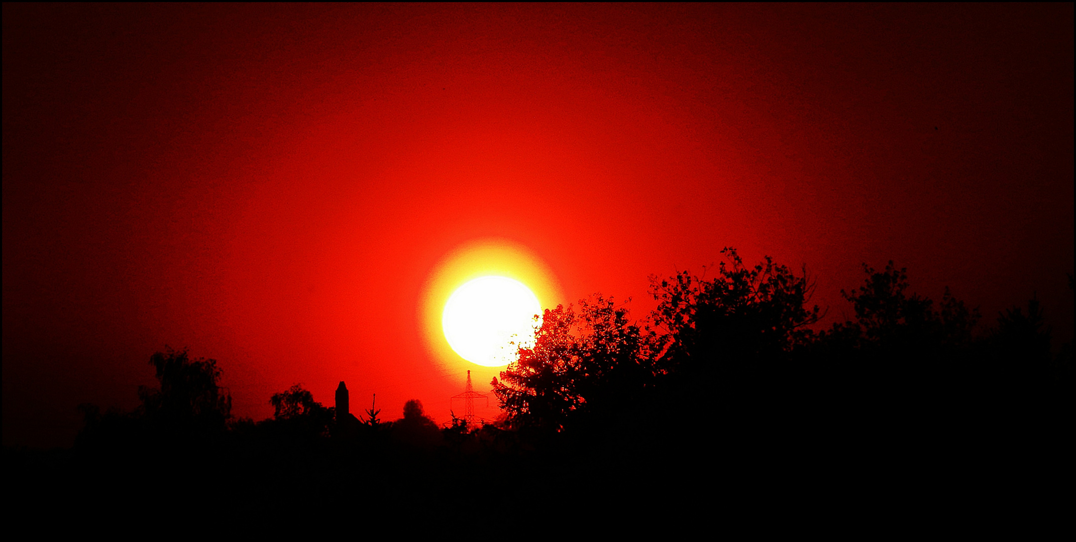 Sonnenuntergang im April...