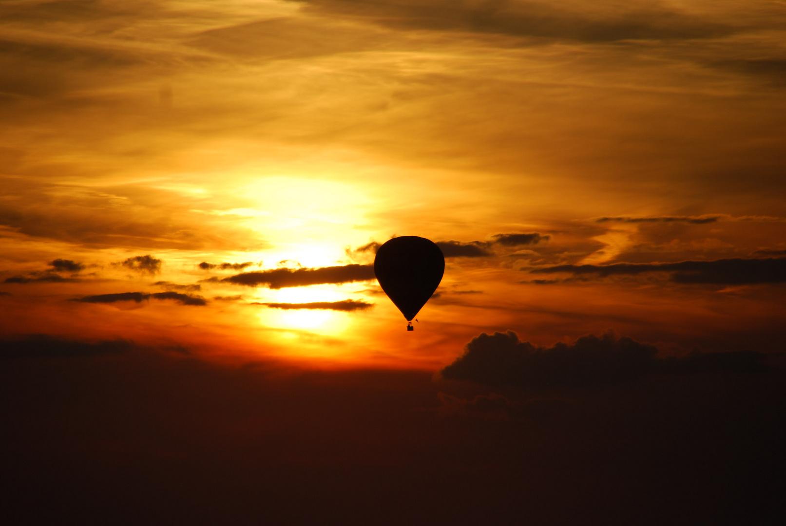 Sonnenuntergang im Ballon