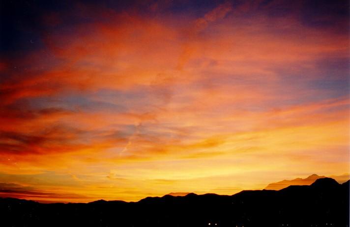 Sonnenuntergang im Death Valley, USA