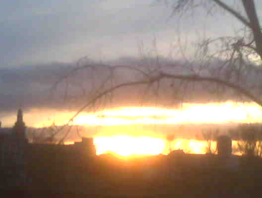 Sonnenuntergang im Dezember 2008 Frankfurt am Main