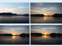 Sonnenuntergang im Fjord