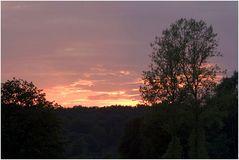 Sonnenuntergang im Frühsommer
