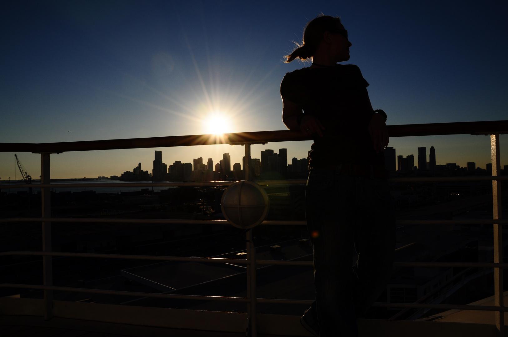 Sonnenuntergang im Gegenlicht