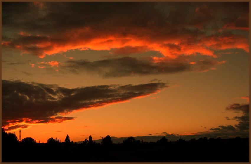 Sonnenuntergang im Geiseltal