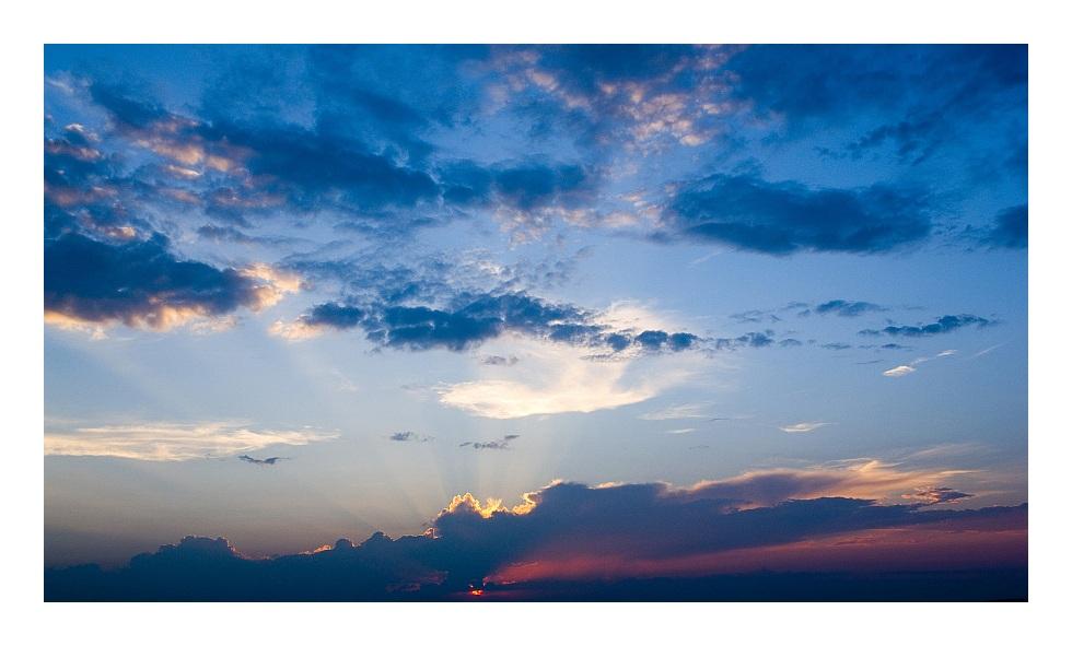 """Sonnenuntergang im """"Goldenen Grund"""""""