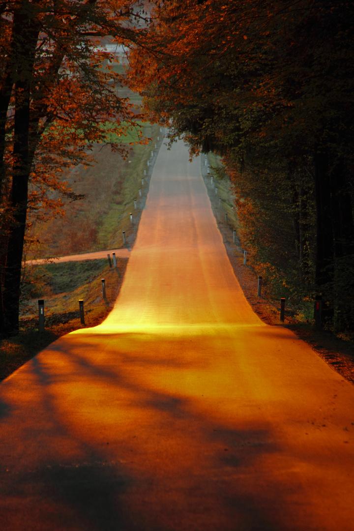 Sonnenuntergang im Herbst in der wunderschönen Steiermark