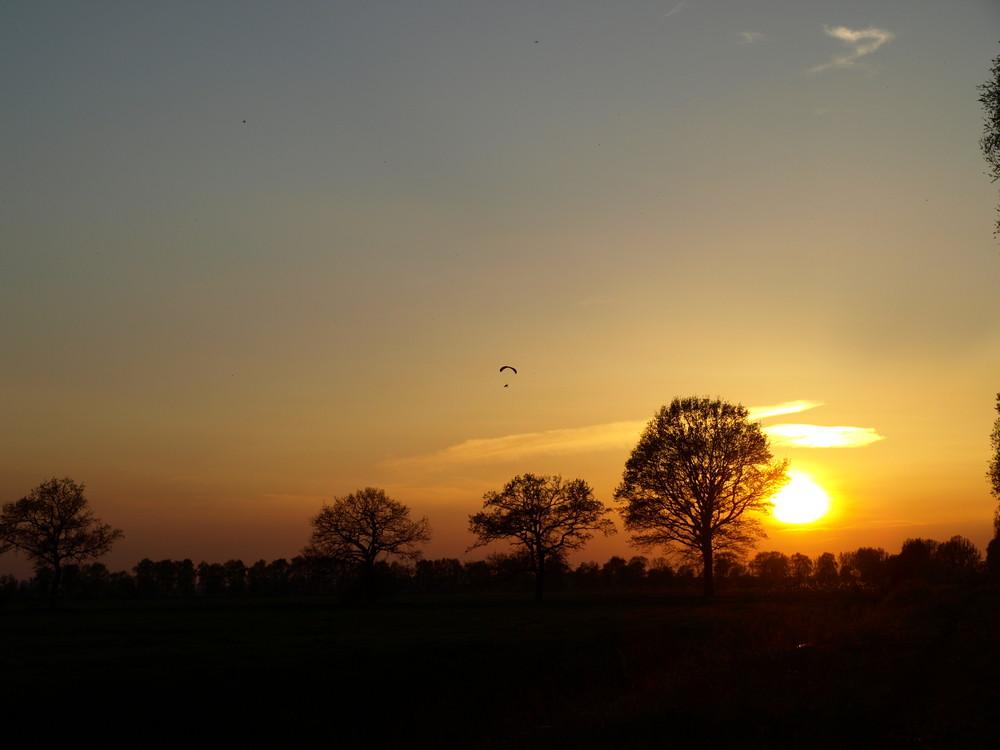 Sonnenuntergang im Herzen der Lewitz 1 (Mecklenburg-Vorpommern)