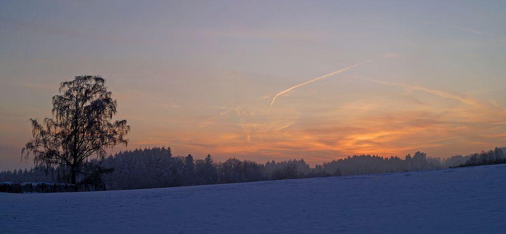Sonnenuntergang im Hotzenwald