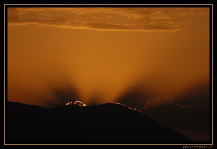 Sonnenuntergang im Ida-Gebirge auf Kreta