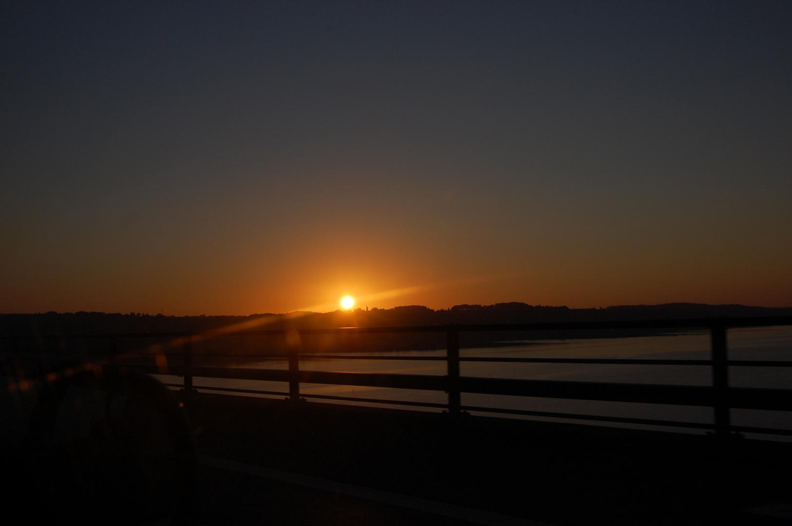 Sonnenuntergang im Juni bei Flensburg