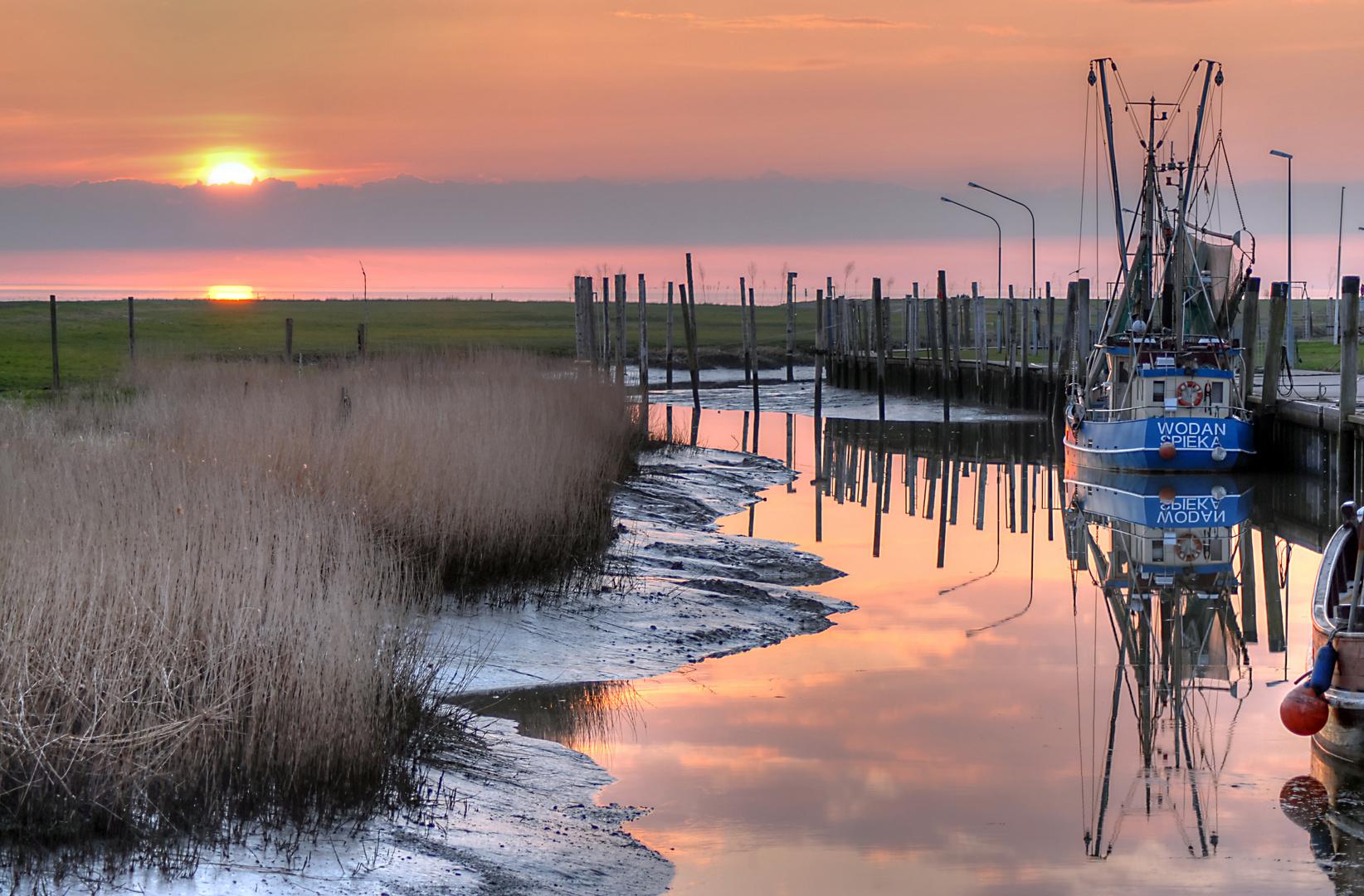 Sonnenuntergang im Kutterhafen