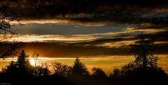Sonnenuntergang im Landkreis ...