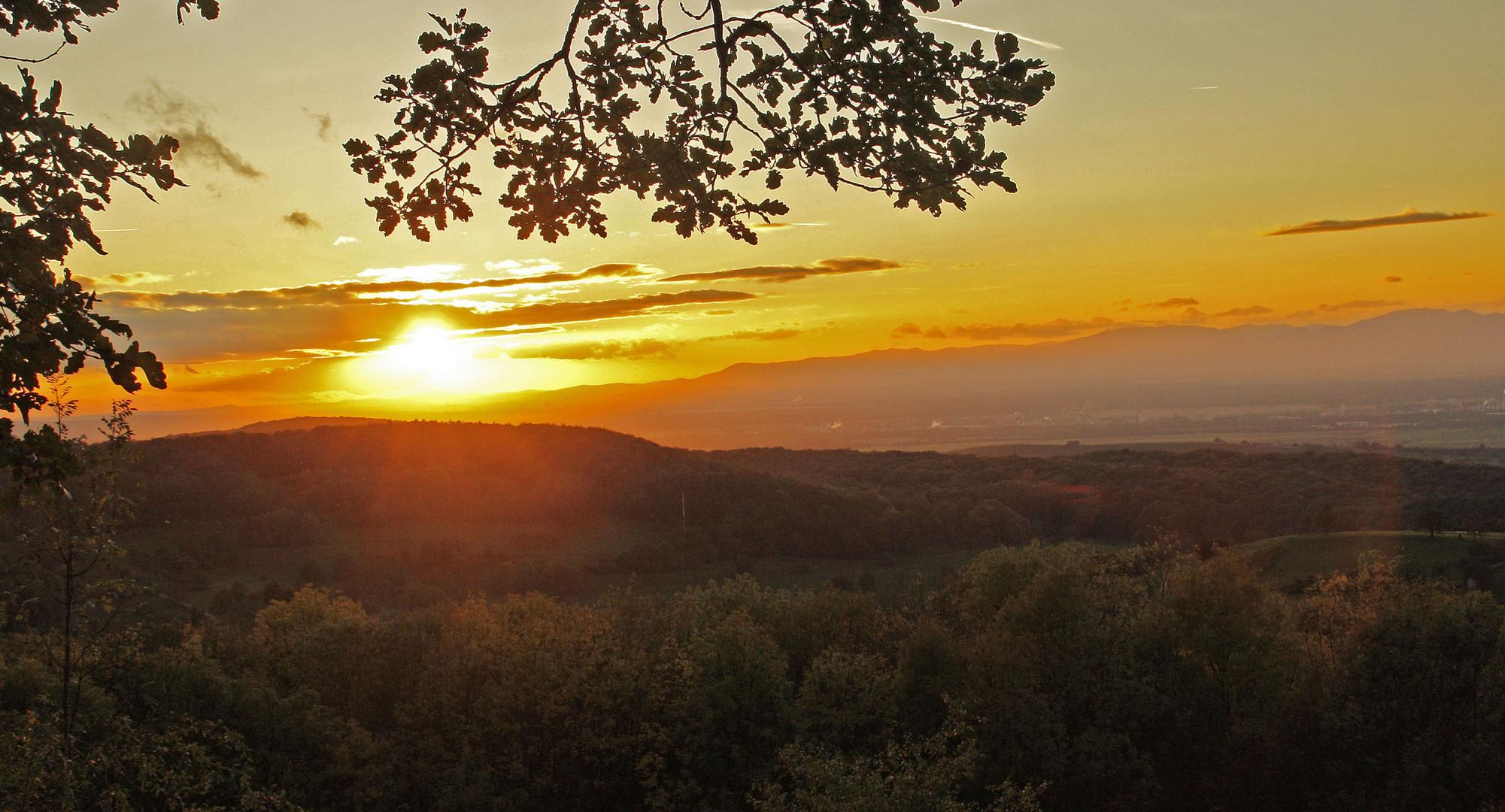 Sonnenuntergang im Markgräfler Land