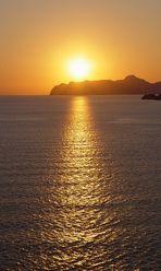 Sonnenuntergang im Mittelmeer