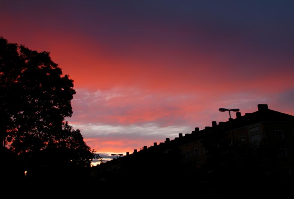 Sonnenuntergang im Münchner Osten