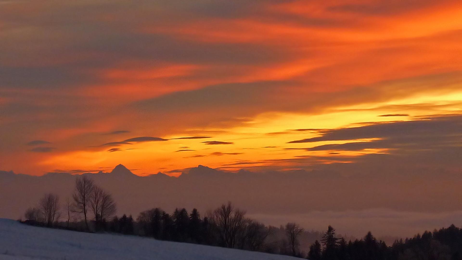 Sonnenuntergang im Nationalpark Bayerischer Wald 1