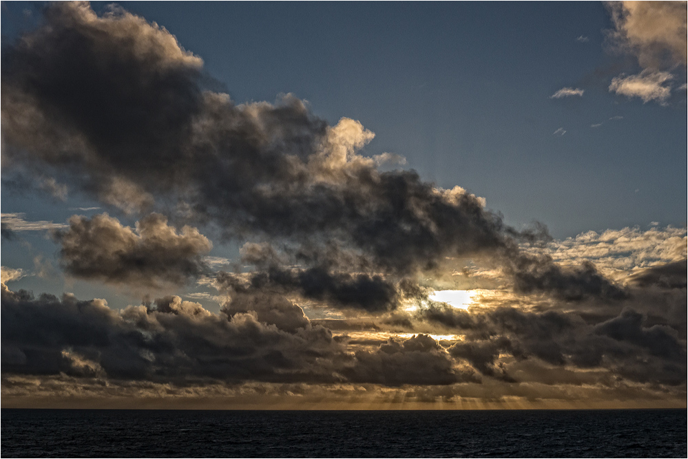 Sonnenuntergang im Nordatlantik..