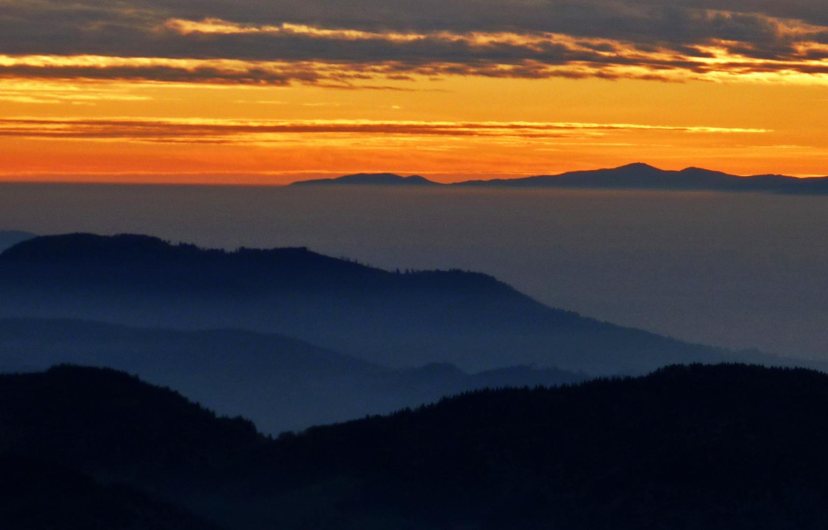 Sonnenuntergang im Nordschwarzwald