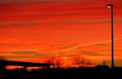 Sonnenuntergang im November 2006