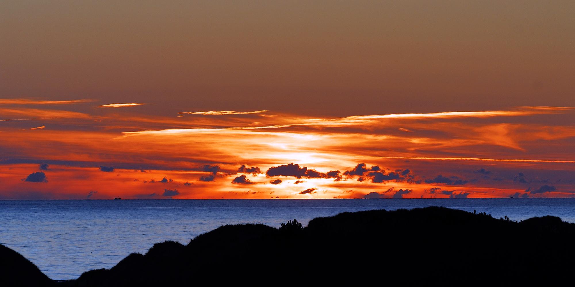 Sonnenuntergang im Oktober