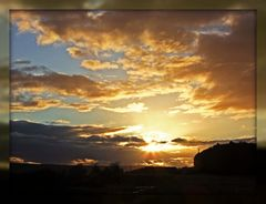 Sonnenuntergang im Rafzerfeld