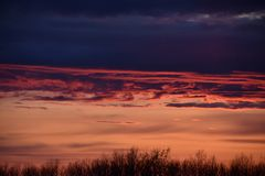 Sonnenuntergang im Rostocker Nordwesten