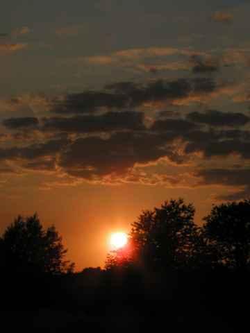 Sonnenuntergang im Saarland