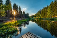 Sonnenuntergang im Seebachtal
