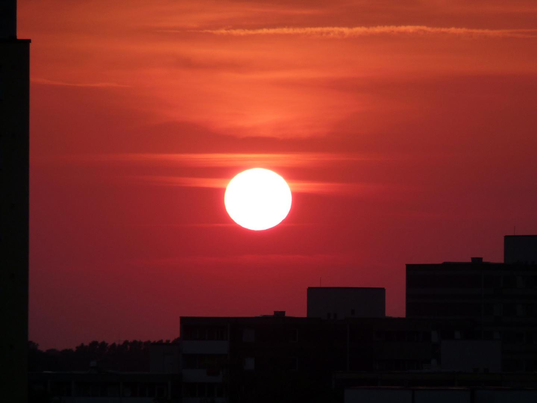 Sonnenuntergang im Spektefeld
